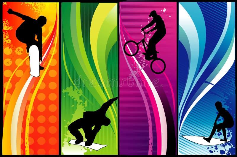 Vetor extremo dos esportes ilustração royalty free
