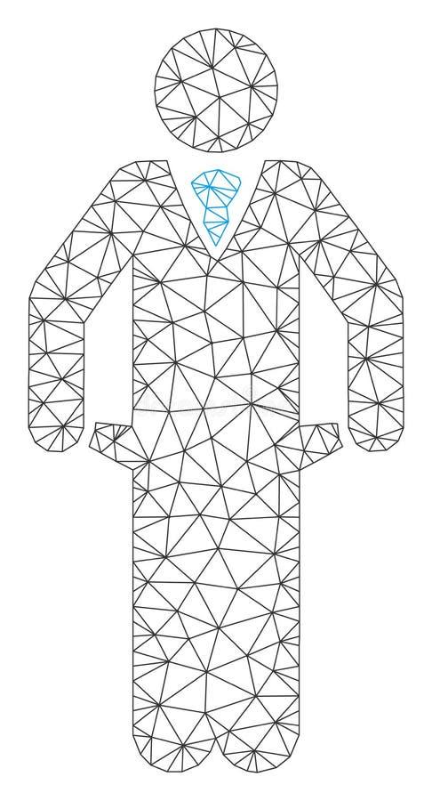 Vetor falido Mesh Network Model ilustração do vetor