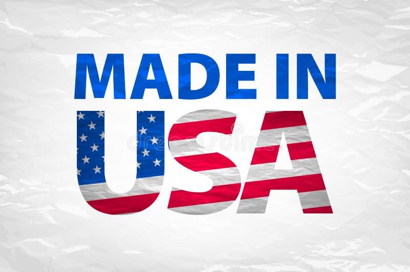 Vetor feito no vetor do logotipo dos EUA ilustração do vetor