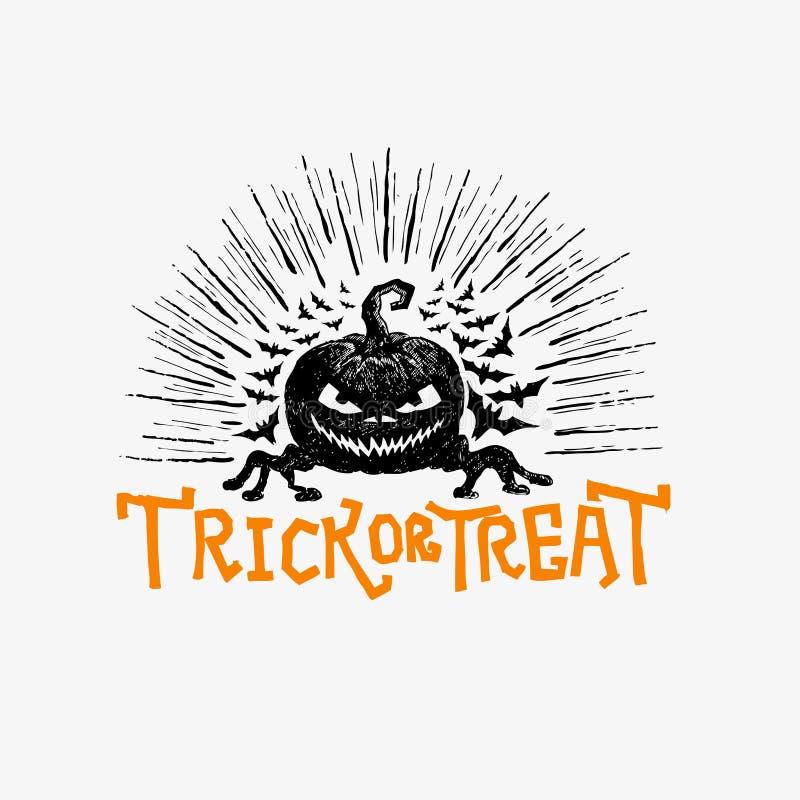 Vetor feliz de Halloween ilustração royalty free