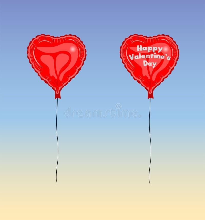 Vetor feliz do balão do dia de Valentine's ilustração stock