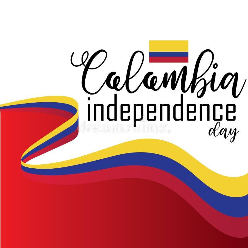 Vetor feliz do Dia da Independência de Colômbia ilustração royalty free