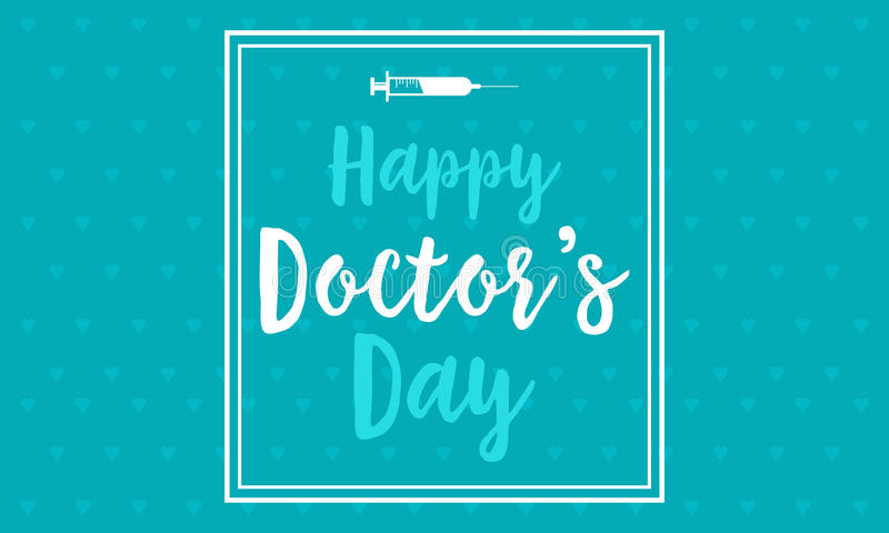 Vetor feliz do dia do doutor liso ilustração stock