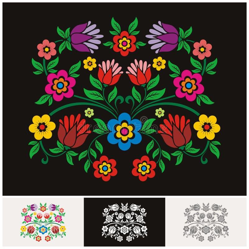 Vetor floral étnico mexicano com projeto bonito e adorável ilustração stock
