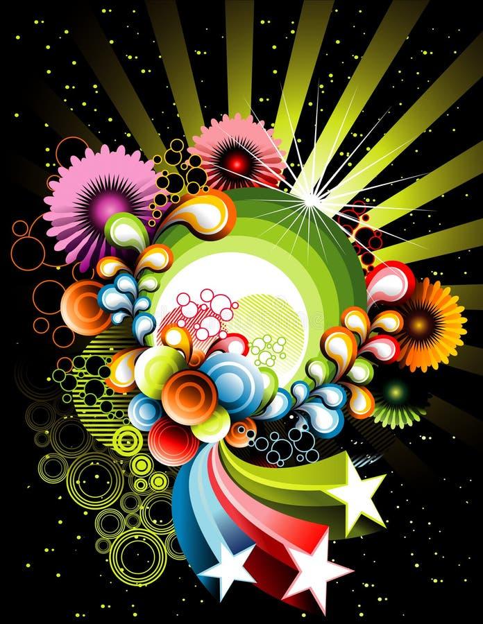 Vetor floral ilustração do vetor
