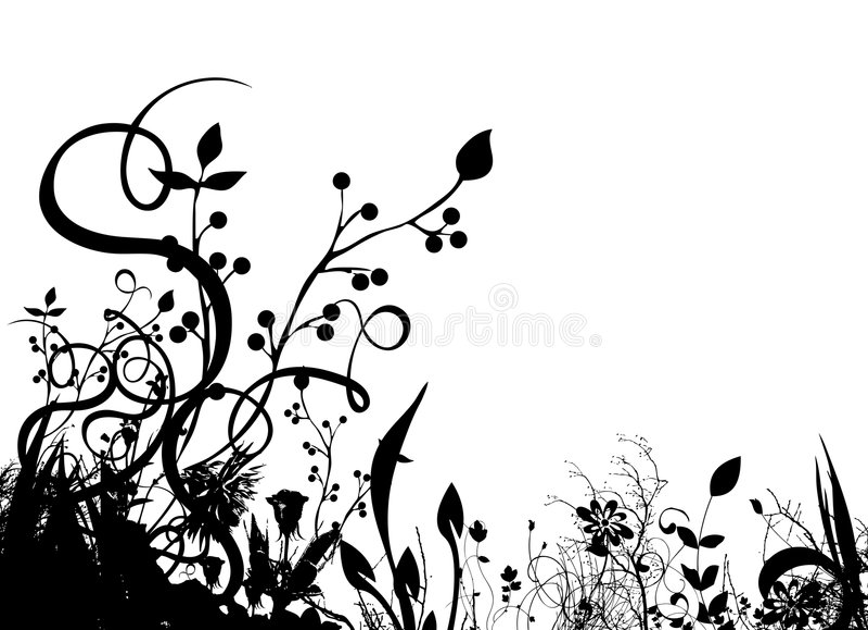 Vetor floral abstrato ilustração stock