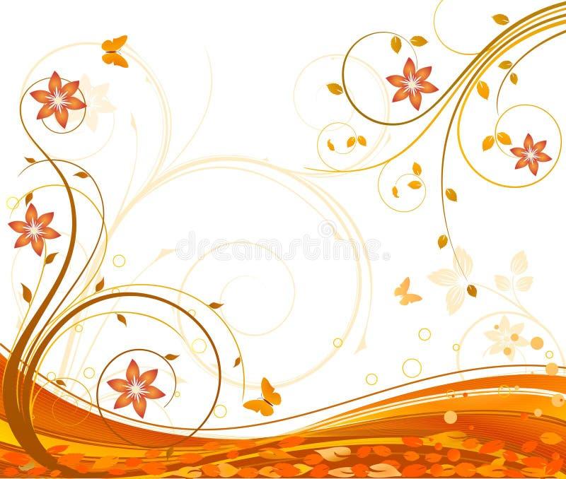 Vetor floral do beckground ilustração royalty free