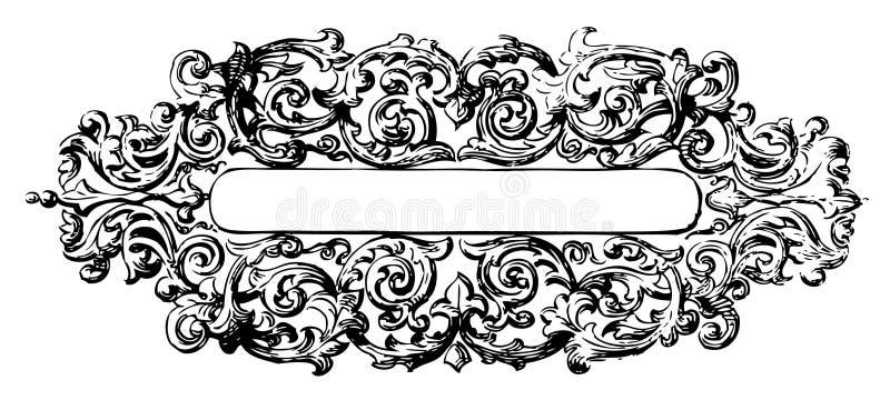 Vetor floral do frame ilustração do vetor