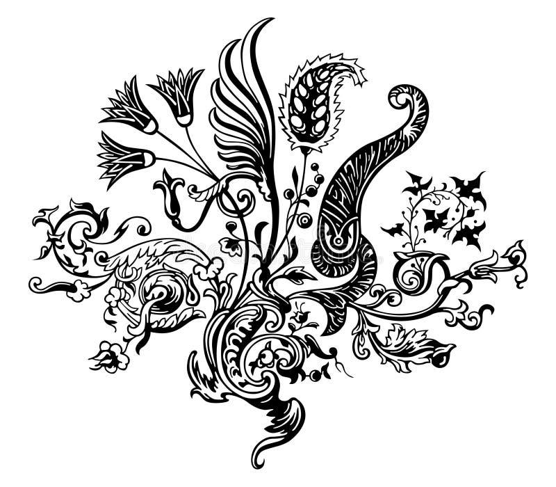 Vetor floral do ornamento ilustração do vetor