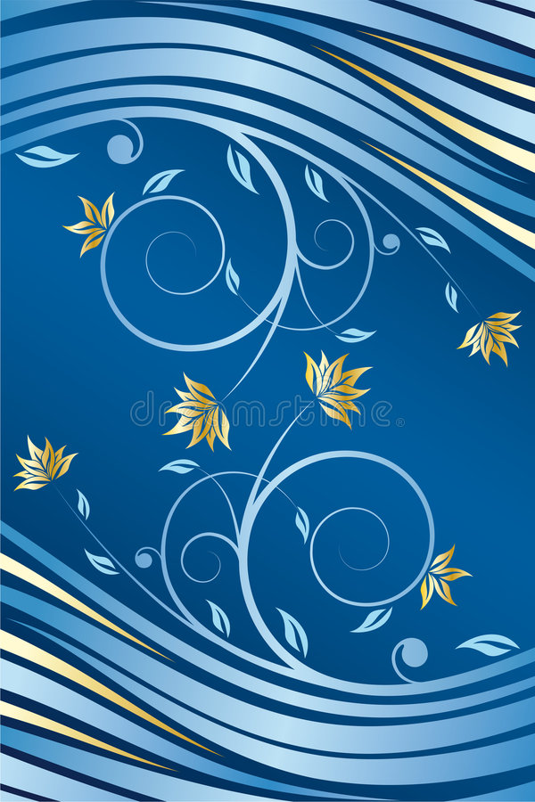 Vetor floral do projeto ilustração royalty free