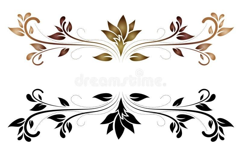 Vetor floral elegante do rolo ilustração do vetor