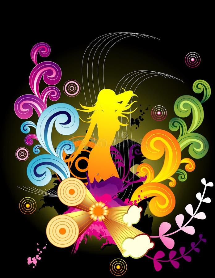 Vetor floral fêmea   ilustração royalty free