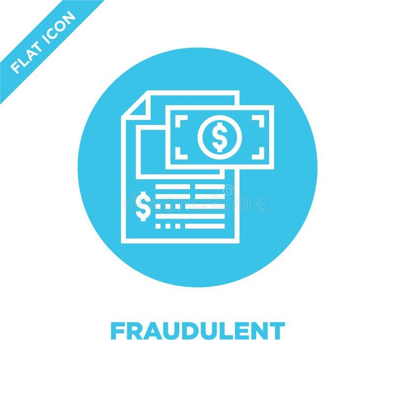 vetor fraudulento do ícone da coleção dos elementos da corrupção Linha fina ilustração fraudulenta do vetor do ícone do esboço Sí ilustração stock