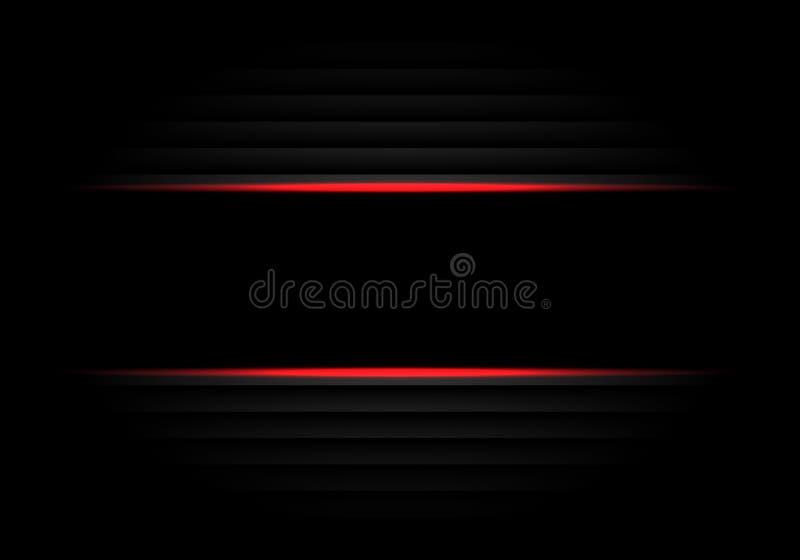 Vetor futurista luxuoso moderno do fundo do projeto preto abstrato da luz vermelha da bandeira ilustração do vetor