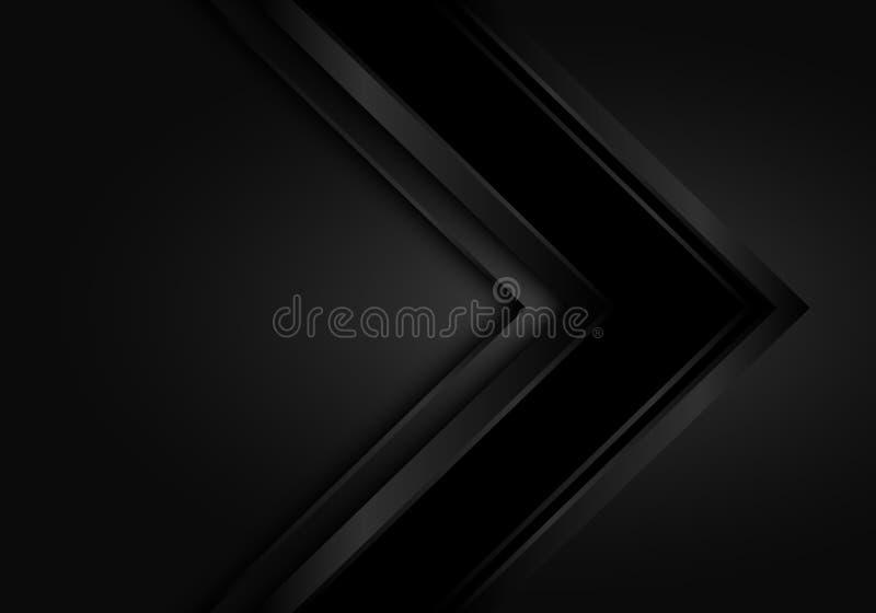 Vetor futurista moderno preto escuro do fundo do projeto do sentido da seta do sumário ilustração do vetor