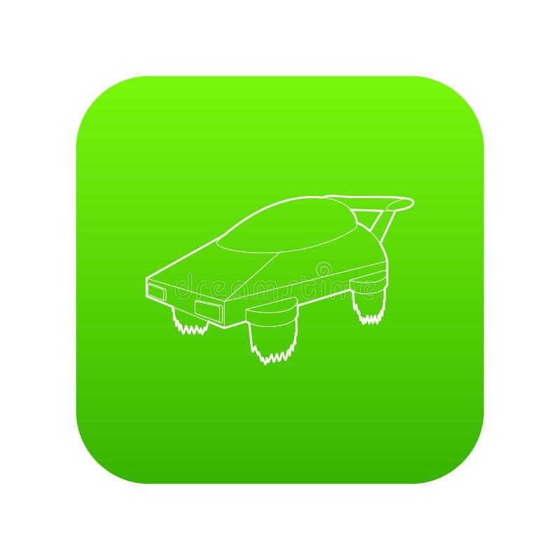 Vetor futuro do verde do ícone da máquina de voo ilustração royalty free