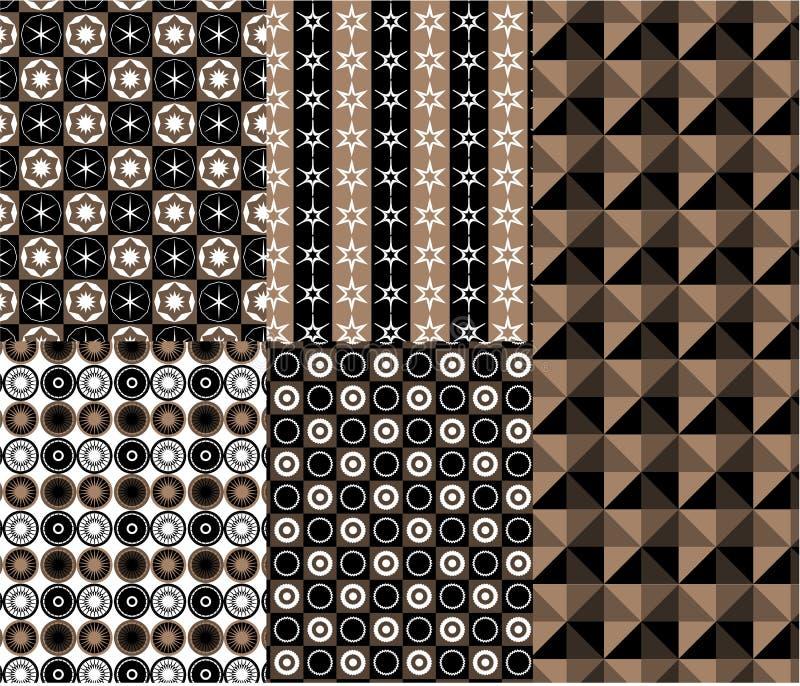 Vetor geométrico do teste padrão do estilo moderno ilustração royalty free