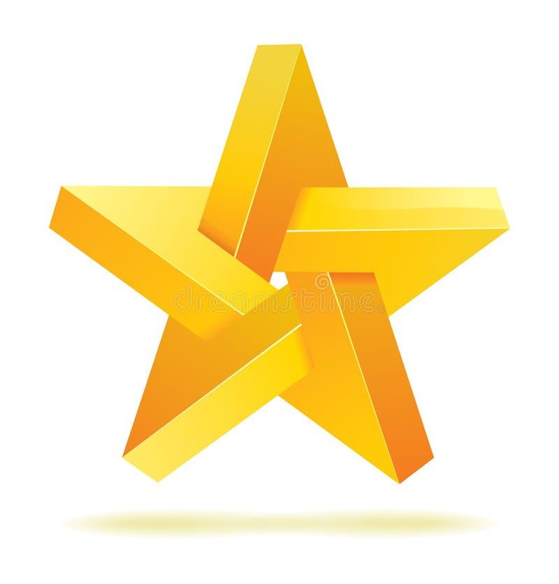 Vetor geométrico irreal da estrela ilustração stock