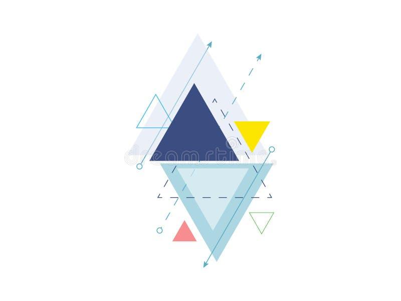 Vetor geométrico mínimo do fundo do projeto do triângulo ilustração royalty free