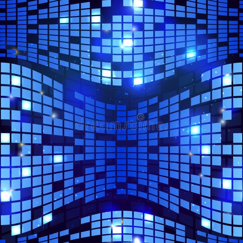Vetor geométrico sem emenda do fundo da olá!-tecnologia azul abstrata ilustração royalty free