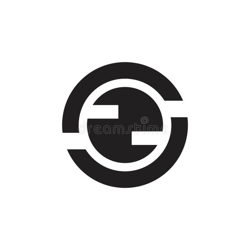 Vetor global geométrico do logotipo do conceito do círculo do sumário ilustração do vetor