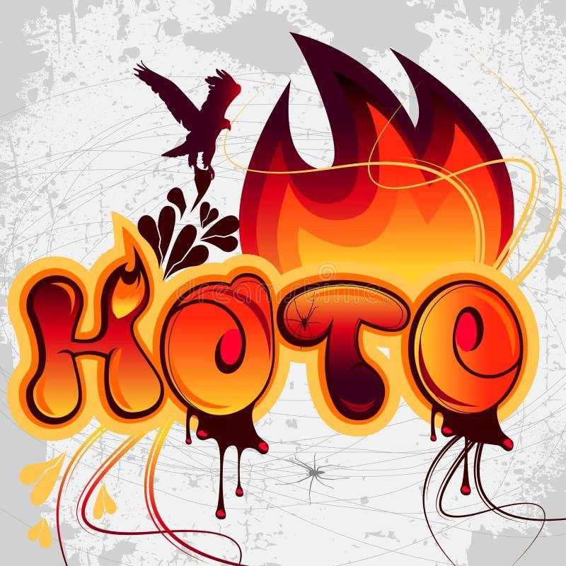 Vetor gráfico quente ilustração do vetor