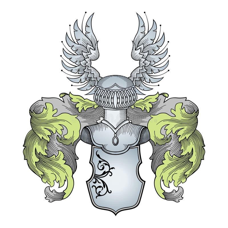 Vetor heráldico ilustração do vetor