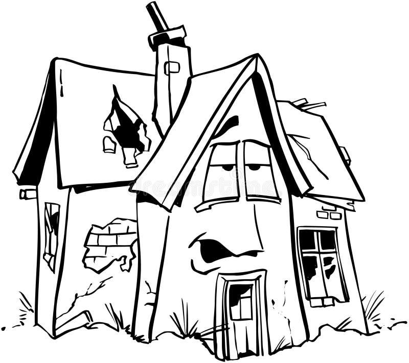 Vetor home Clipart dos desenhos animados dos bens imobiliários do reparo fotos de stock