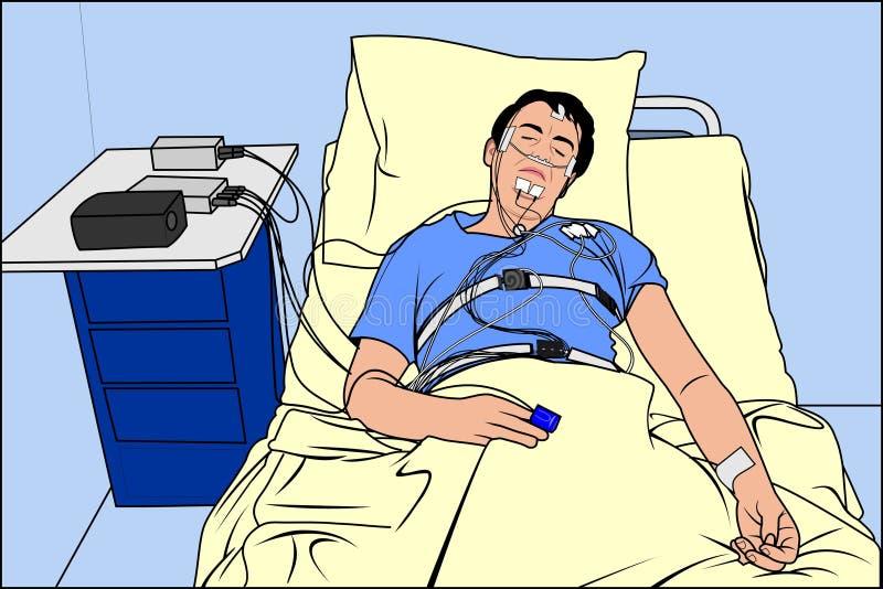Vetor - homem doente ilustração royalty free