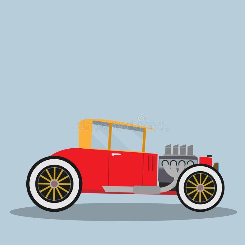 Vetor Hotrod ilustração royalty free