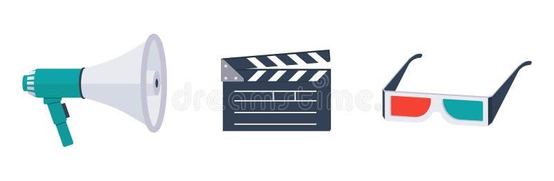 Vetor icons-01 do filme ilustração do vetor
