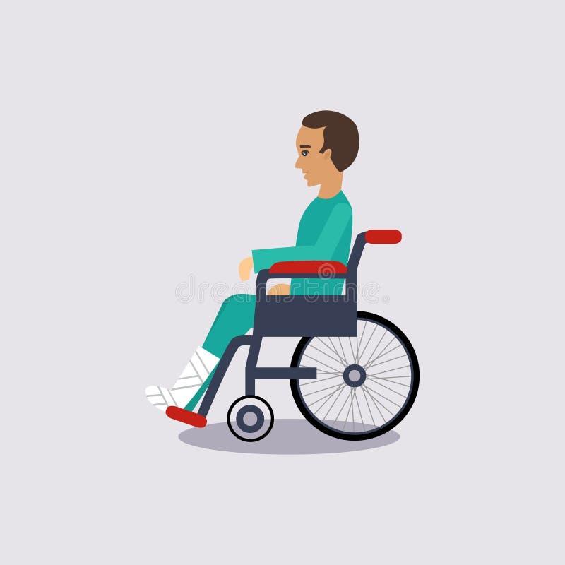Vetor Illustartion do seguro de invalidez ilustração royalty free