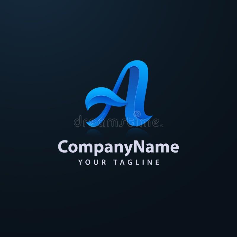 Vetor incorporado do projeto do logotipo da letra A do neg?cio Molde colorido do vetor do logotipo da letra A ilustração royalty free