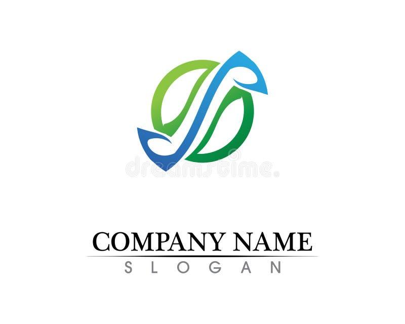 Vetor incorporado do projeto do logotipo da letra P do negócio ilustração do vetor