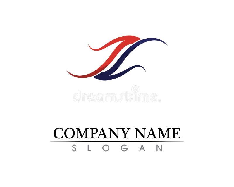 Vetor incorporado do projeto do logotipo da letra P do negócio ilustração stock