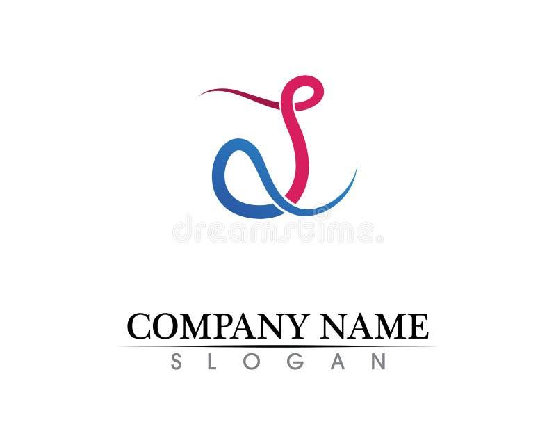 Vetor incorporado do projeto do logotipo da letra P do negócio ilustração royalty free