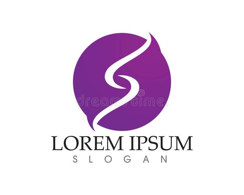 Vetor incorporado do projeto do logotipo da letra S do negócio ilustração stock