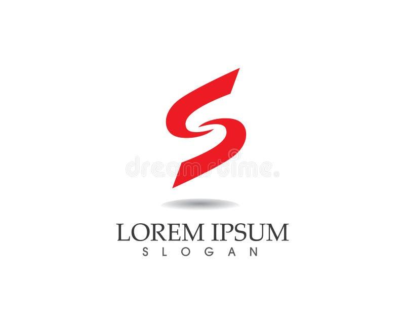Vetor incorporado do projeto do logotipo da letra S do negócio ilustração do vetor