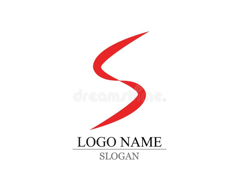 Vetor incorporado do projeto do logotipo da letra S do negócio ilustração royalty free