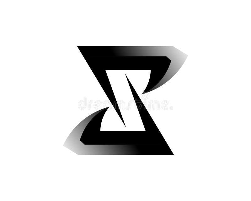 Vetor incorporado do projeto do logotipo da letra S do neg?cio ilustração stock