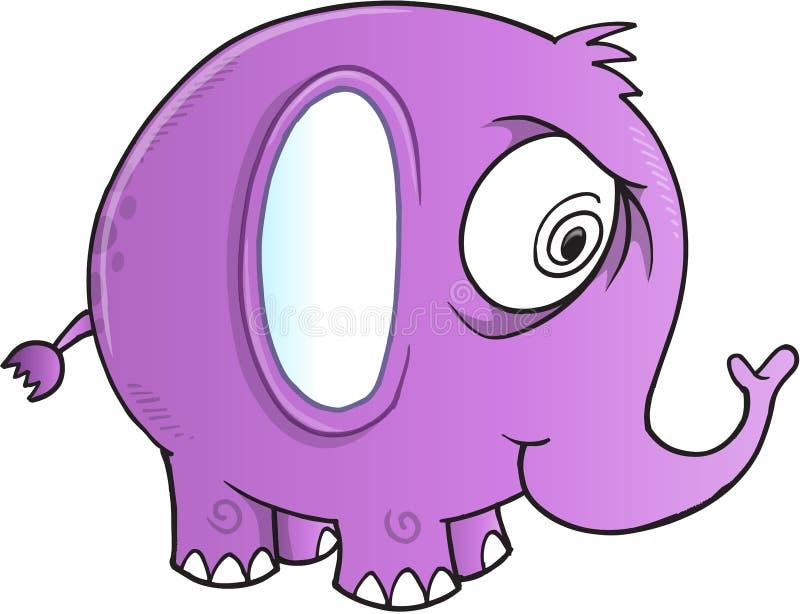 Vetor insano do elefante ilustração do vetor