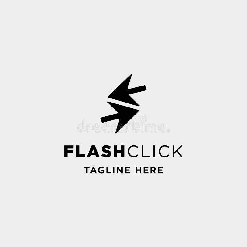 vetor instantâneo do projeto do logotipo do ponteiro do clique que aprende o símbolo do curso ilustração royalty free