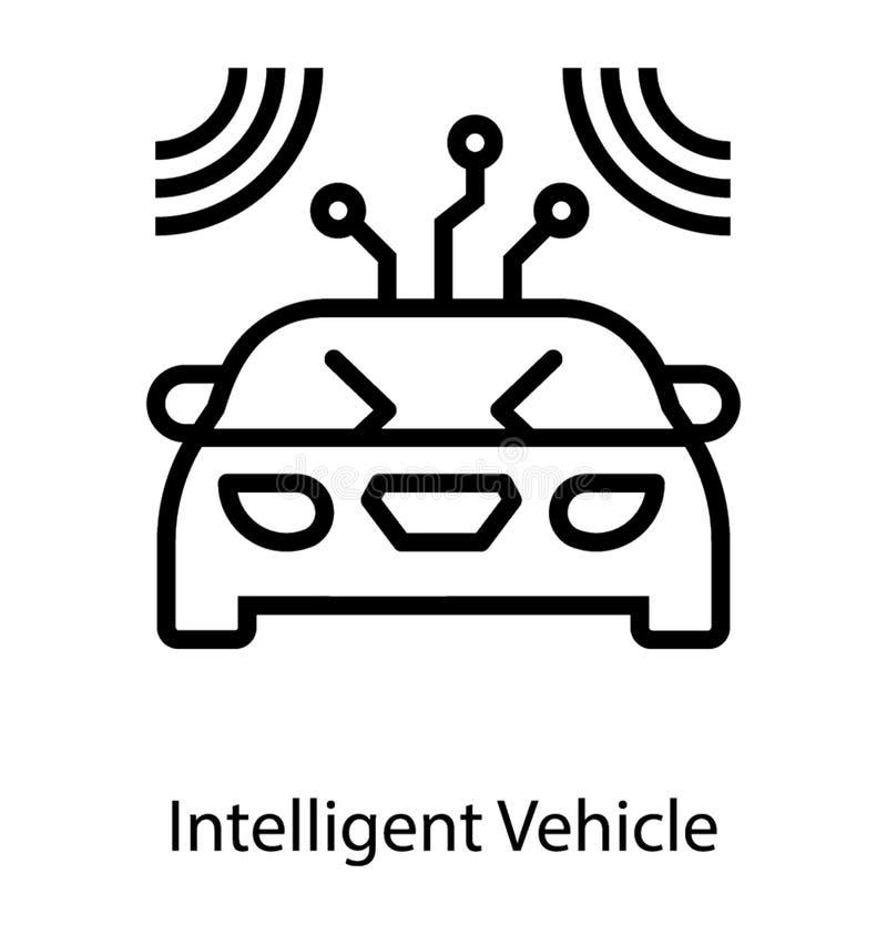 Vetor inteligente do veículo ilustração stock