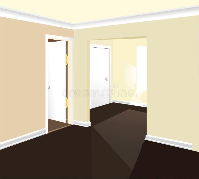 Vetor interior do quarto ilustração stock