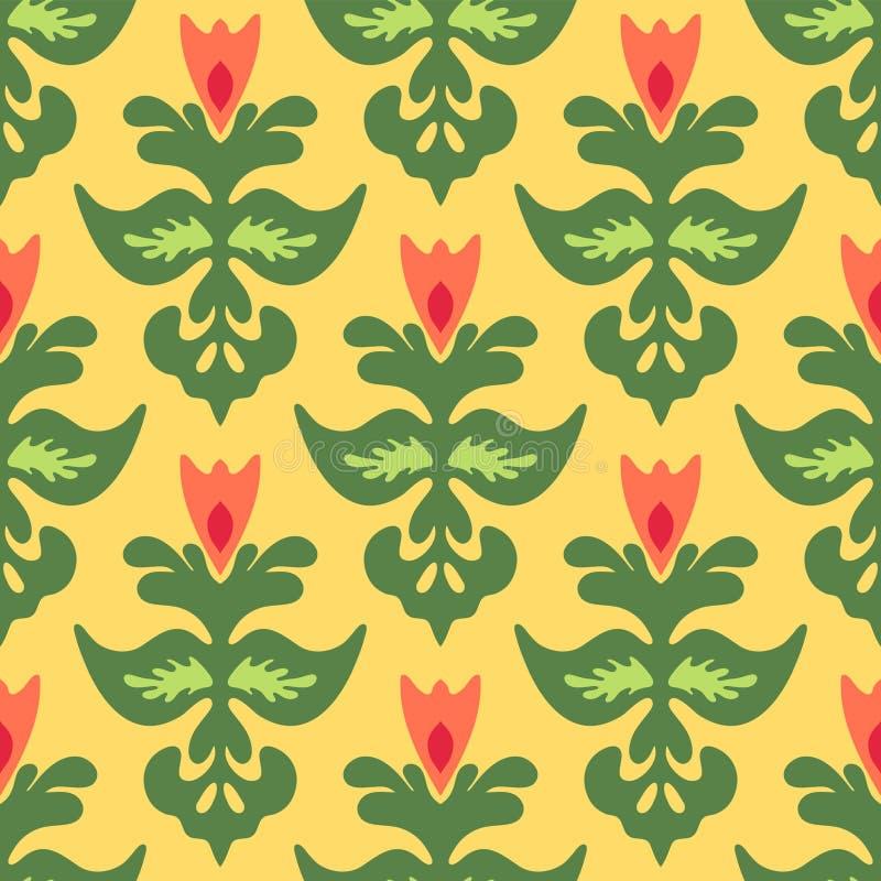 Vetor iSeamless do teste padrão da flor da mola ilustração royalty free