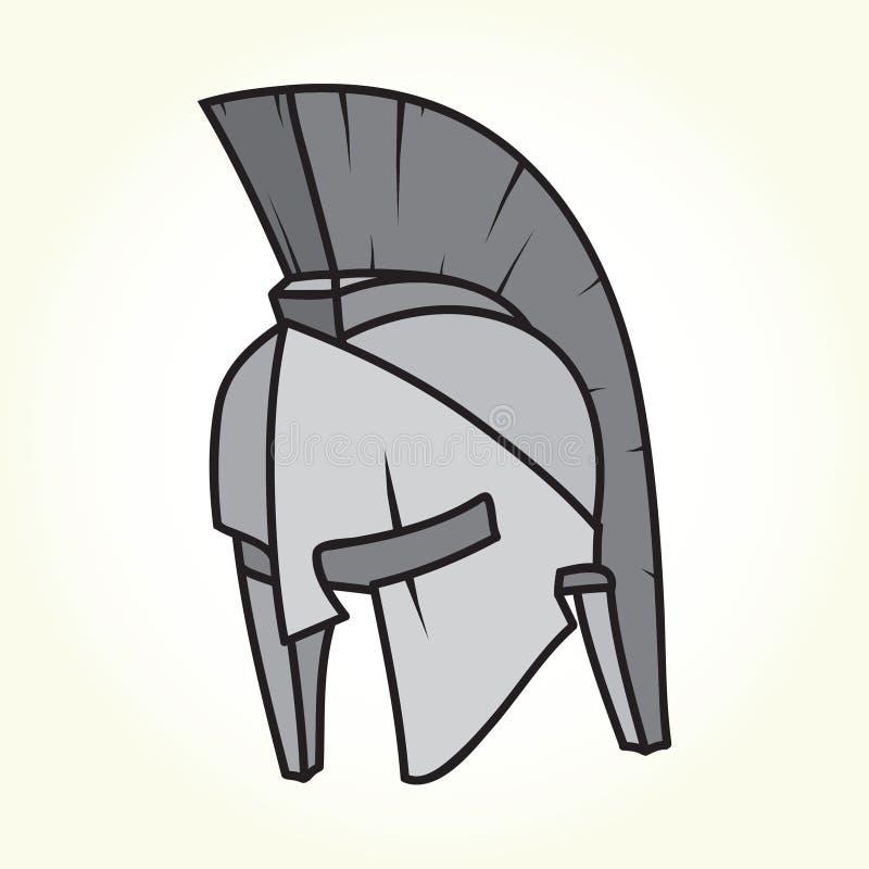 Vetor isolado capacete de Sparta ilustração royalty free
