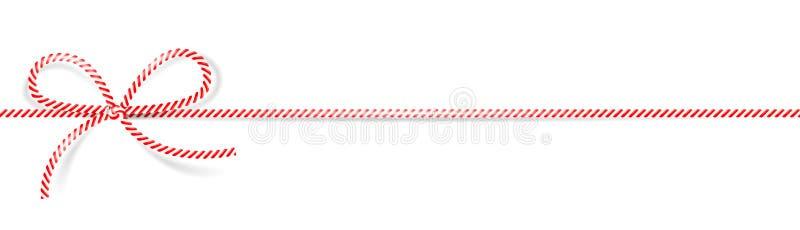 Vetor isolado da curva do cabo branco vermelho ilustração do vetor