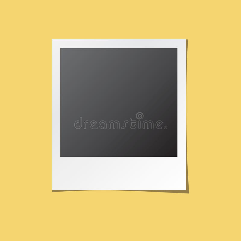 Vetor isolado da foto quadro imediato ilustração do vetor