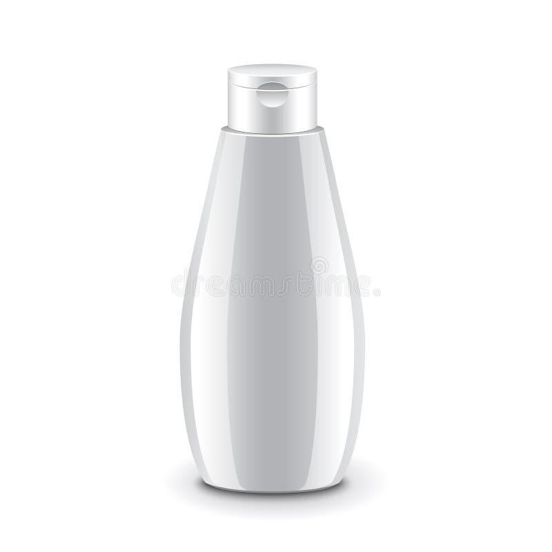 Vetor isolado do champô garrafa plástica cosmética ilustração stock