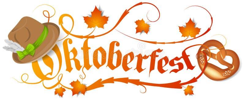 Vetor isolado logotipo de Alemanha do bavaria de Oktoberfest ilustração do vetor